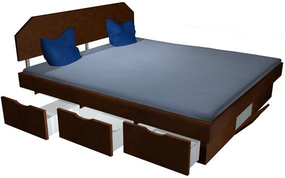 bettgestelle runden ein wasserbett ab und bieten optischen. Black Bedroom Furniture Sets. Home Design Ideas