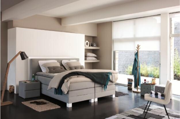 hohes dreischichtiges polsterkomfortbett
