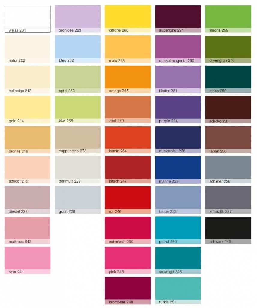 Spannbetttuch-Farben
